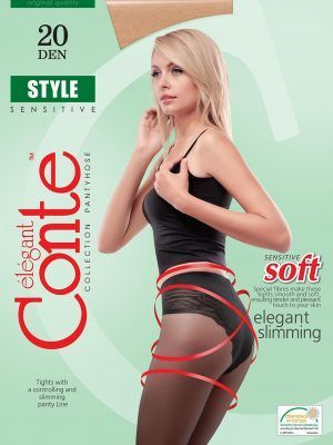 Ciorap Modelator cu Chilot Dantelat Style 20 Den Conte Elegant