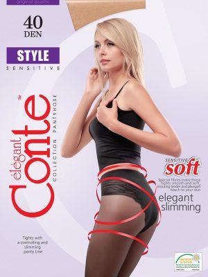 Ciorap Modelator cu Chilot Dantelat Style 40 Den Conte Elegant