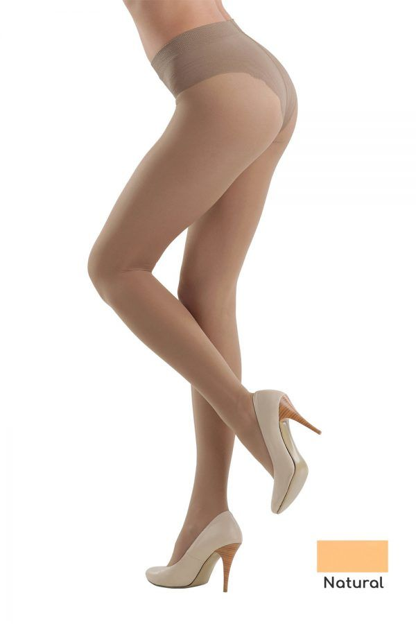 Ciorap Modelator cu Chilot Dantelat Style 40 Den Natural