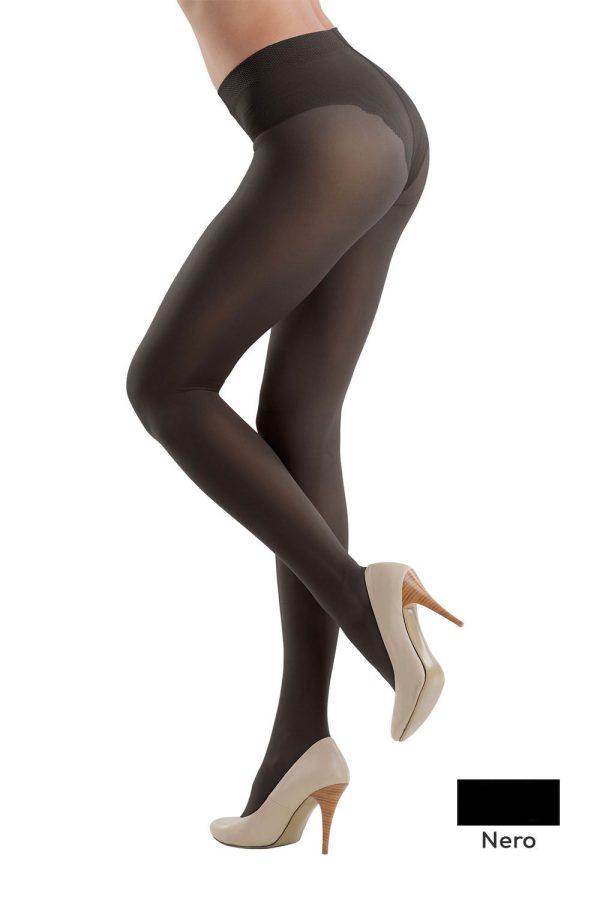 Ciorap Modelator cu Chilot Dantelat Style 40 Den Nero