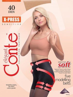 Ciorap Modelator cu Efect de Push-Up X-press 40 Den Conte Elegant