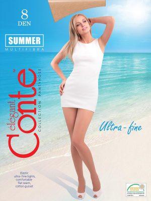 Ciorap Ultra Subțire cu intaritura invizibila Summer 8 Den Conte Elegant