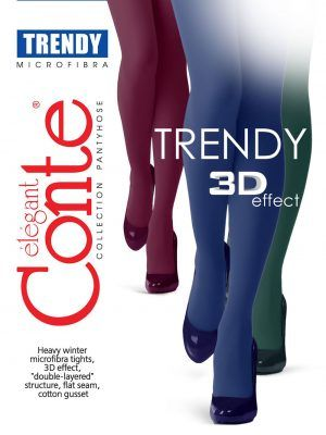 Ciorapi grosi din microfibra si 3D Lycra Trendy 150 Den Conte Elegant