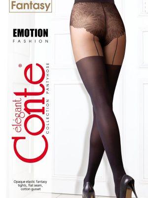 Ciorap cu model, imitație portjartiere, Fantasy Emotion