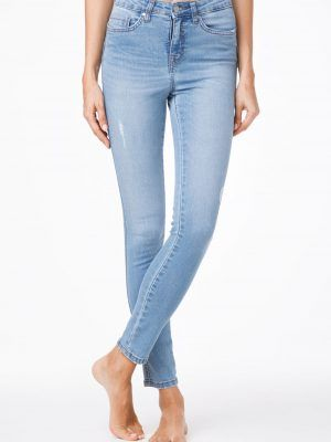 Blugi Skinny Modelatori cu Push-Up , CON-42, Conte Elegant, Blue Model Fata