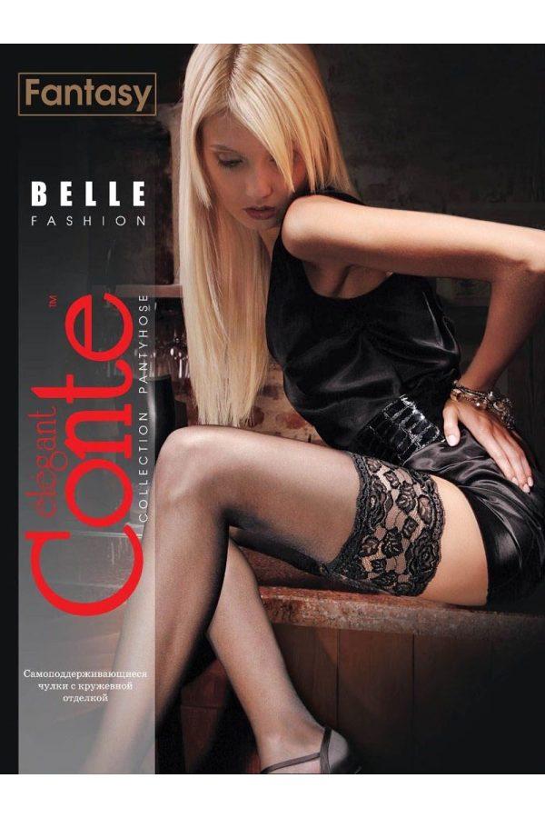 Ciorap Bandă Adezivă Lată cu Multifibră, Belle 20 Den, Conte Elegant