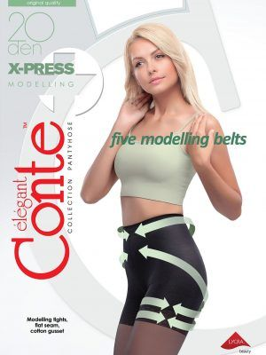 Ciorap Modelator cu Efect de Push-Up X-press 20 Den Conte Elegant Ambalaj nou