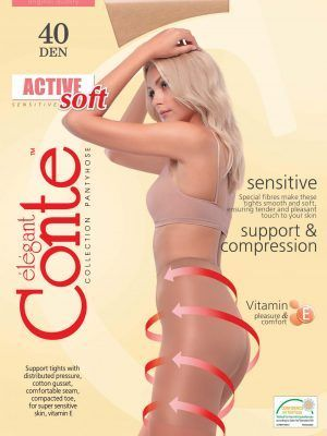 Ciorap compresiv și modelator Active Soft 40 Den