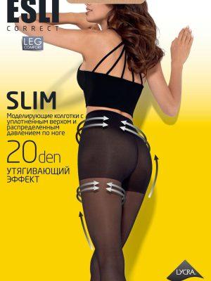 Ciorap compresiv și modelator, Esli Slim 20 Ambalaj nou