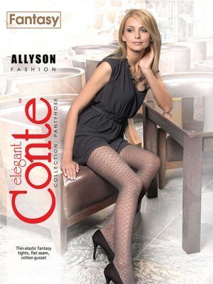 Ciorap cu Model Ajurat , Allyson 40 Den Conte Elegant