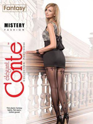 Ciorap cu model dungă spate și fundițe, Fantasy Mistery, Conte Elegant