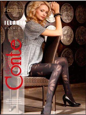 Ciorap cu model frunze, Fantasy Ilaria, Conte Elegant