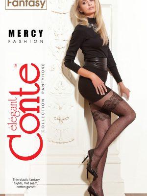 Ciorap cu model imitație Bandă Adezivă cu buline, Fantasy Mercy, Conte Elegant