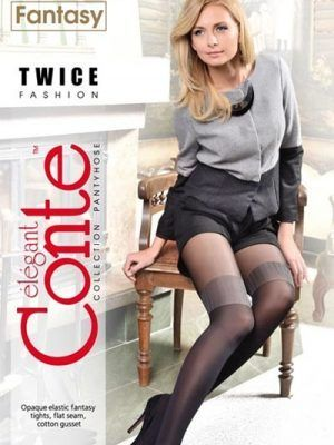 Ciorap cu model imitație jambiere, Fantasy Twice, Conte Elegant