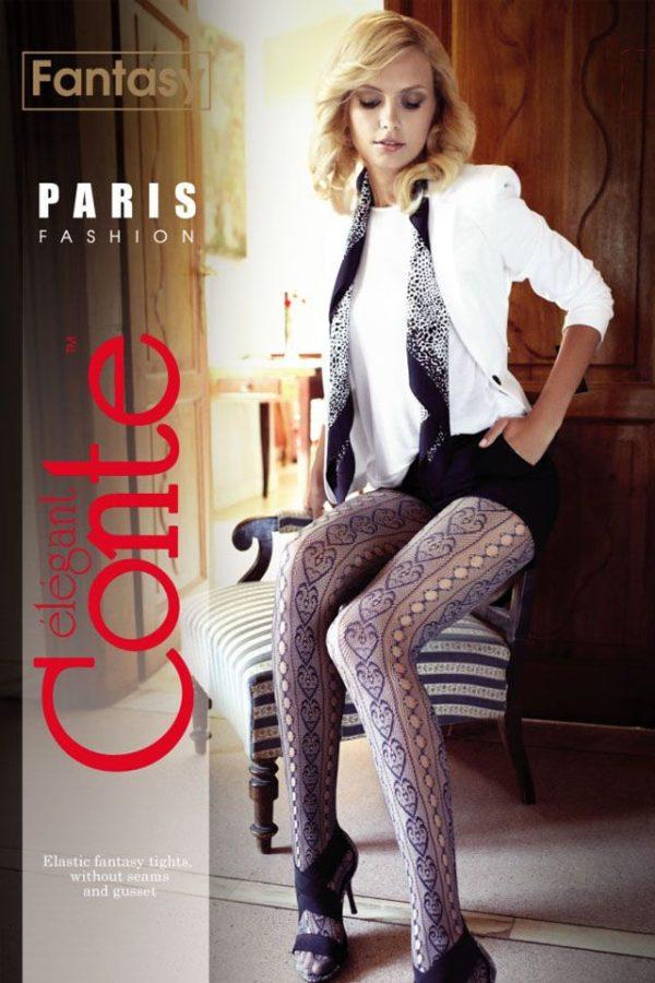 Ciorap cu model inimi, Fantasy Paris, Conte Elegant
