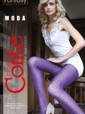 Ciorap cu model romburi, Fantasy Moda, Conte Elegant