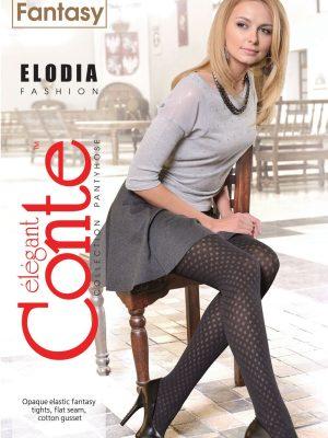 Ciorap dens cu model buline, Fantasy Elodia, Conte elegant