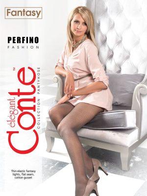 Ciorap subțire cu model pe tot piciorul, Fantasy Perfino, Conte Elegant