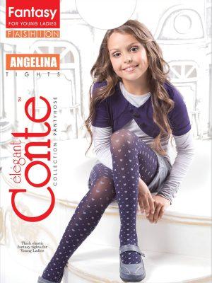 Ciorapi copii cu model inimioare, Angelina 50 Den, Conte Elegant
