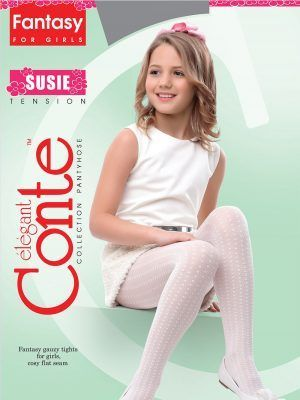 Ciorapi copii groși cu model buline, Susie 50 Den, Conte Elegant