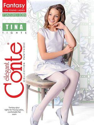 Ciorapi copii groși cu model buline, Tina 50 Den, Conte Elegant