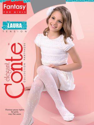 Ciorapi copii subțiri cu model, Laura 20 Den Conte Elegant