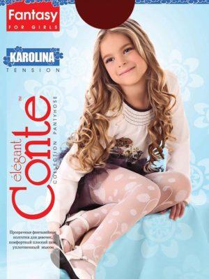 Ciorapi copii subțiri cu model floral, Karolina 20 Den, Conte Elegant