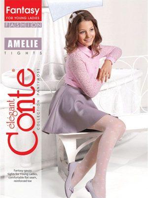 Ciorapi copii subțiri cu model fundițe, Amelie 20 Den, Conte Elegant