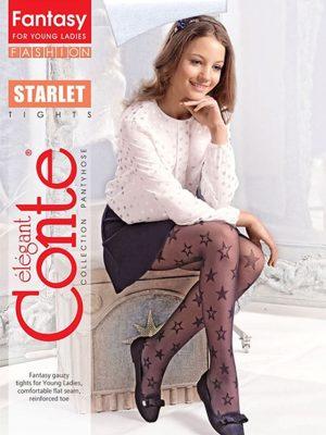 Ciorapi copii subțiri cu model steluțe, Starlet 20 Den, Conte Elegant