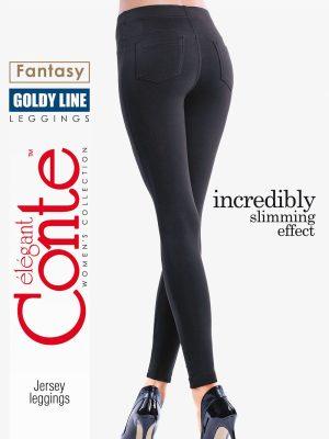 Colanți Subțiri cu Slim Effect, Goldy Line, Conte Elegant