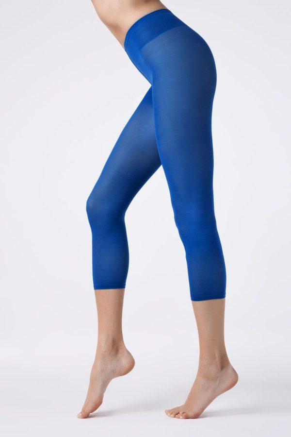 Colanți colorați din microfibră, Colours Leggings Conte Elegant Bleu