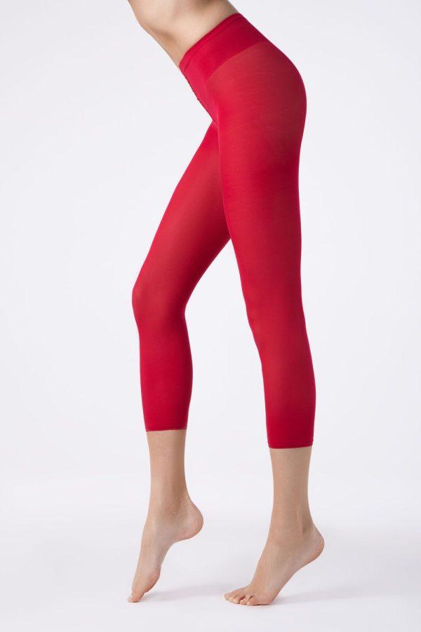 Colanți colorați din microfibră, Colours Leggings Conte Elegant Rosso
