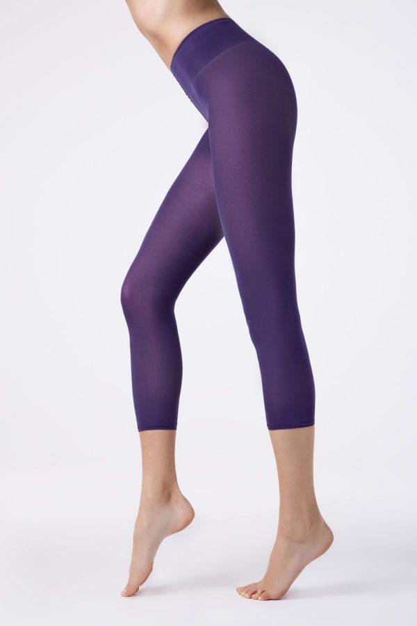 Colanți colorați din microfibră, Colours Leggings Conte Elegant Violet