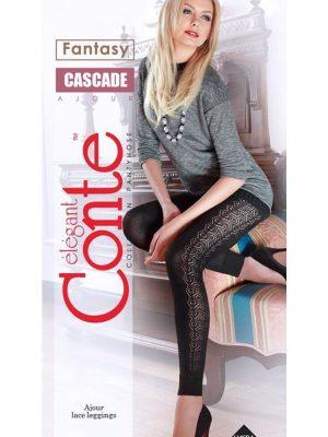 Colanți groși din bumbac cu ajour, Cascade, Conte Elegant