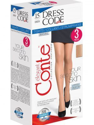 Dresuri Fine Elastice Dress Code 15-Den set 3 Bucăți Conte Elegant