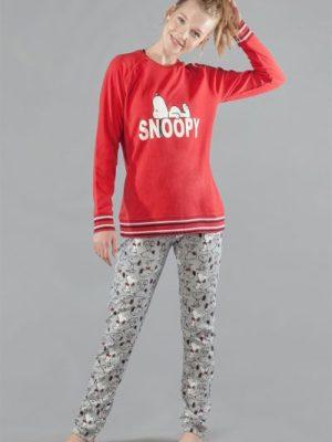 Set pijama groasa cu mânecă lungă Snoopy, Gisela 2-1548