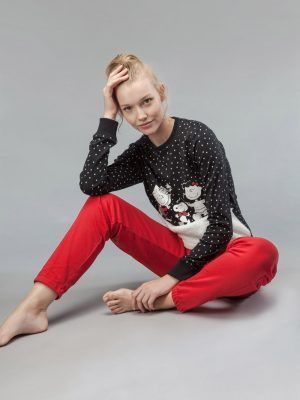 Set pijama subțire cu mânecă lungă Snoopy, Gisela 2-1549 Model