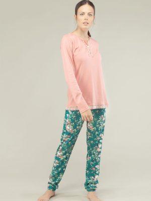Set pijama subțire din bumbac cu mânecă lungă, Gisela 3-1527