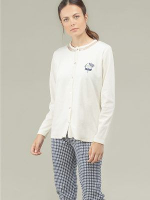 set pijama cu maneca lunga gisela 3-1521 model fata