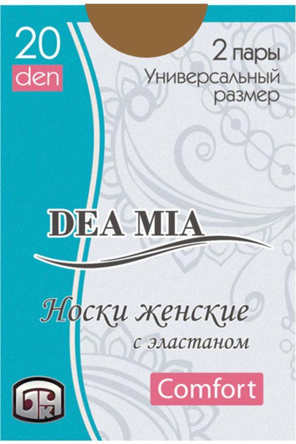 Șosete 1-2 damă din poliamidă Deea Mia, Bchk 20 Den Bronz