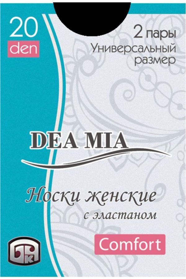 Șosete 1-2 damă din poliamidă Deea Mia, Bchk 20 Den Nero