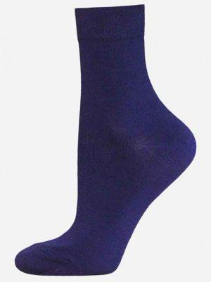 Șosete damă din bumbac, Bchk Classic 1100-000 Albastru inchis