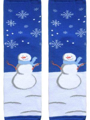 Șosete haioase și flaușate de Crăciun cu model Om de zăpadă, Conte Lapland 261