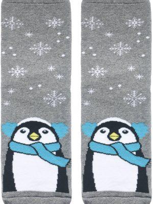 Șosete haioase și flaușate de Crăciun cu model Pinguin, Conte Lapland 062 (melanj)