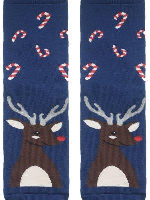 Șosete haioase și flaușate de Crăciun cu model Ren, Conte Lapland 260