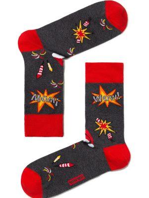 Șosete haioase bumbac cu motiv Crăciun, DiWaRi 307