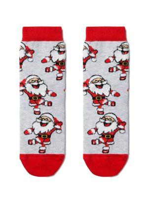Șosete haioase din bumbac cu motiv de Crăciun, Conte Kids 374