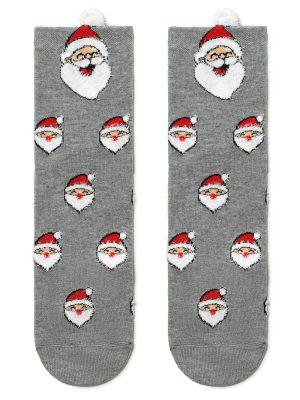 Șosete haioase, model Moș Crăciun cu pompon, Conte Elegant 447