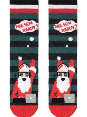 Șosete haioase Crăciun, model Party Santa, DiWaRi 441