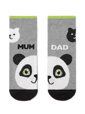 Șosete haioase Panda, Funny Legs 281 gri
